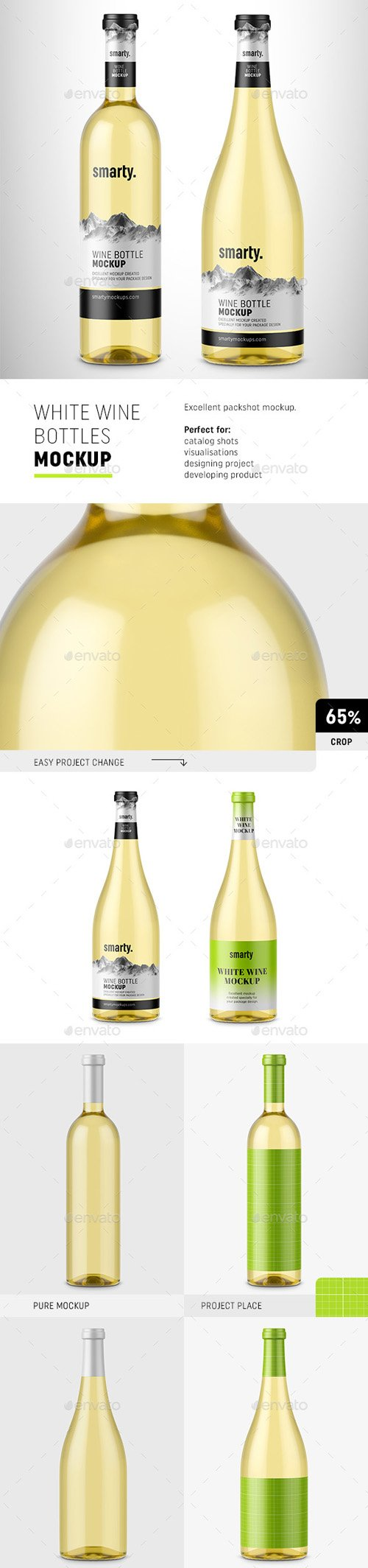 White Wine Bottles Mockup 20263664