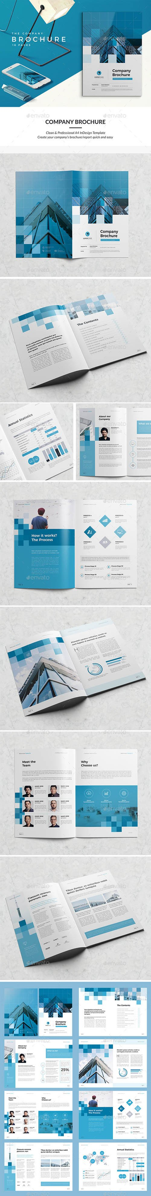 Modern Company Brochure 16 Pages 20346788