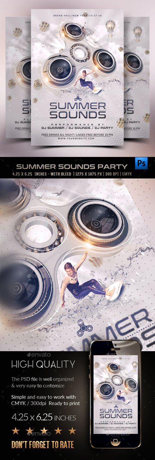 Summer Sounds Party Flyer 20295431