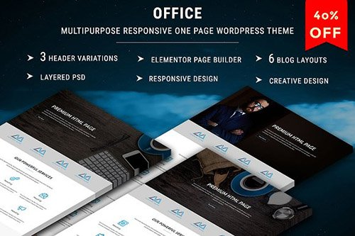 OFFICE v1.0 - One Page WordPress Theme - CM 1666881