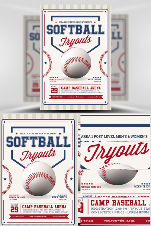 softball brochure templates flyer template softball tryouts nitrogfx download