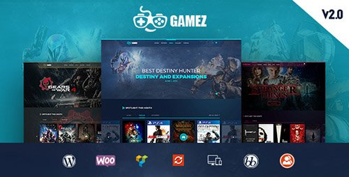 ThemeForest - Gamez v1.0 - Games, Movie, Music Review and Editorial WordPress Theme - 16875996