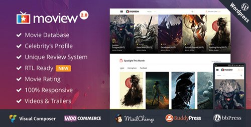 ThemeForest - Moview v1.3 - Responsive Film/Video DB & Review Theme - 14990869