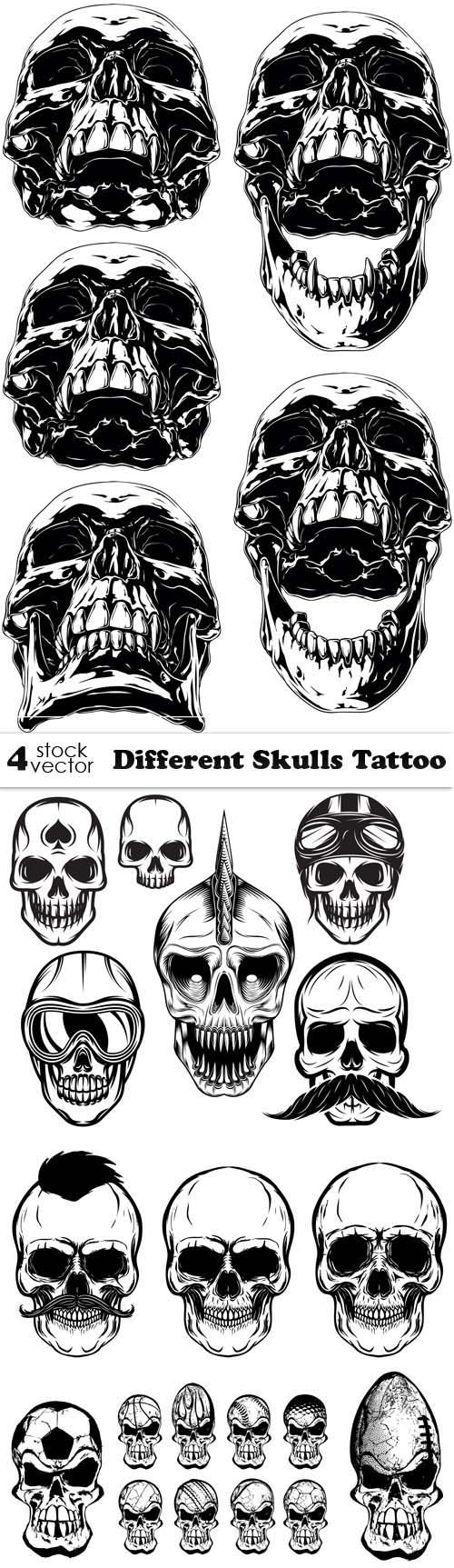Vectors - Different Skulls Tattoo