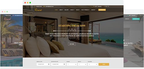 Joomshaper resort v1 7 a luxury hotel joomla template for Joomla hotel template