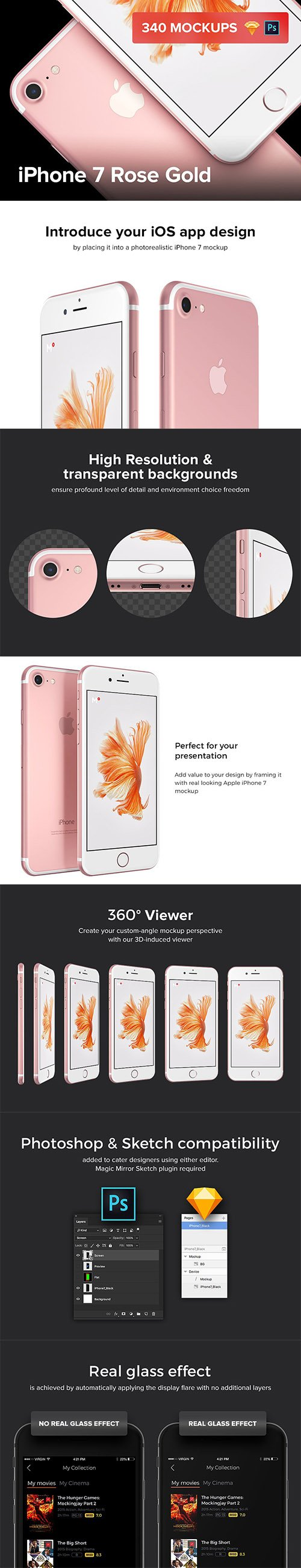 340 iPhone 7 Rose Gold mockups - CM 1247676