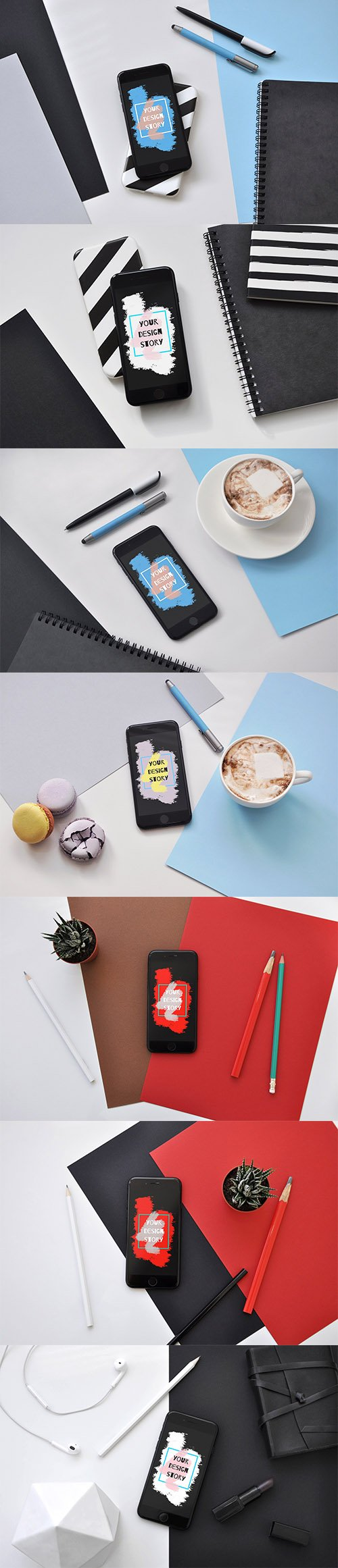iPhone 7 Black - 7 PSD Mockups - CM 1371490