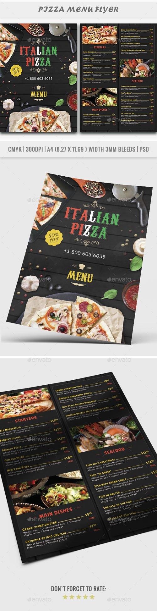 Pizza Menu Flyer | Restaurant 20337476