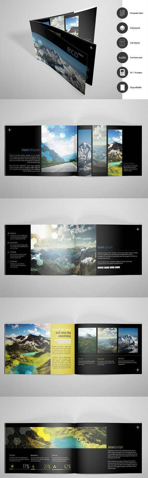 A5 Eco Catalogue template 1469579