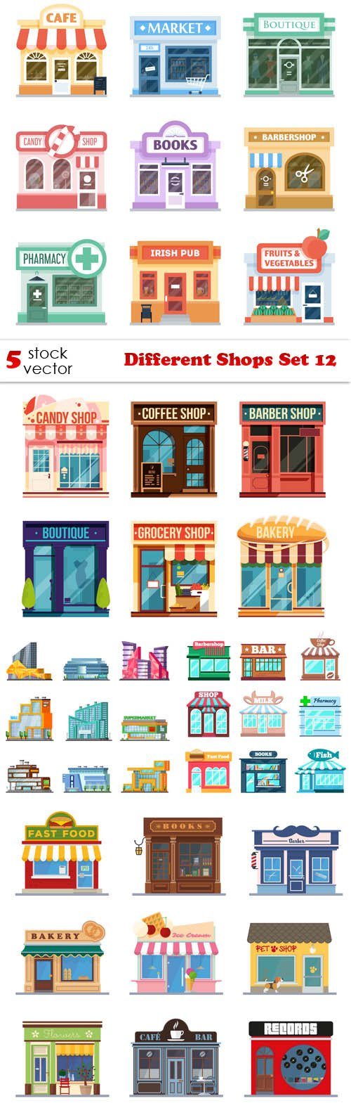 Vectors - Different Shops Set 12