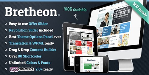 ThemeForest - Bretheon v2.4.2 - WordPress Theme - 4001061