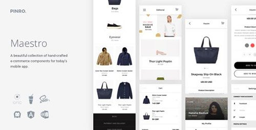 CodeCanyon - Maestro v1.1.0 - Ionic E-Commerce Template - 18579857