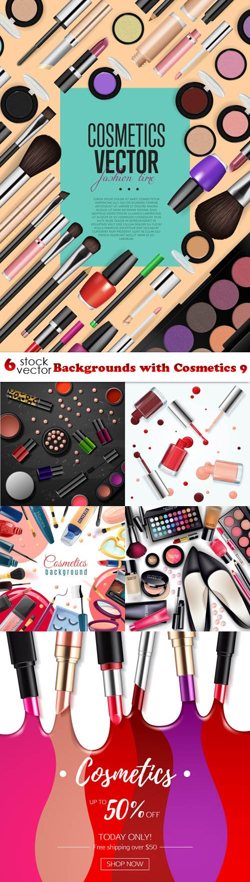 Vectors - Backgrounds with Cosmetics 9