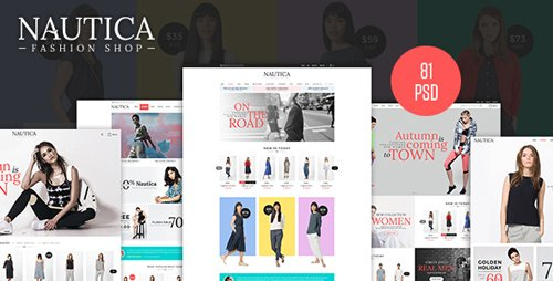 Nautica - Fashion eCommerce PSD Template 13599092