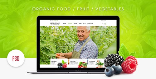 Fresh Food – Organic Food/Fruit/Vegetables eCommerce PSD Template 18066207