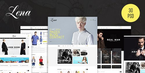 Lena - Fashion eCommerce PSD Template 12479710