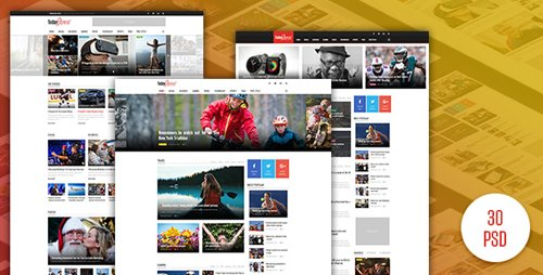TodayExpress - News & Magazine PSD Template 14860530
