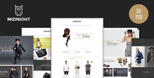 MidNight - Fashion eCommerce PSD Template 13041038