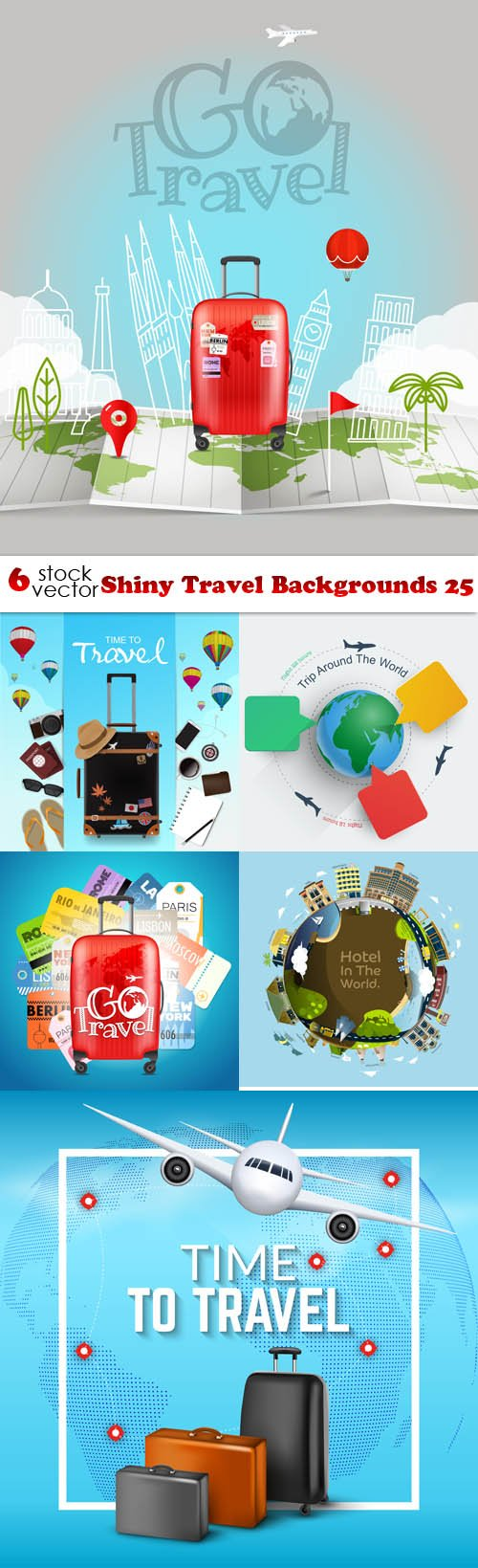 Vectors - Shiny Travel Backgrounds 25