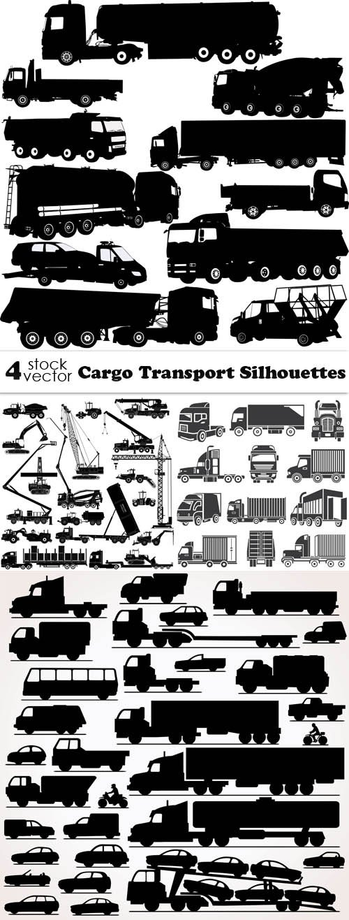 Vectors - Cargo Transport Silhouettes