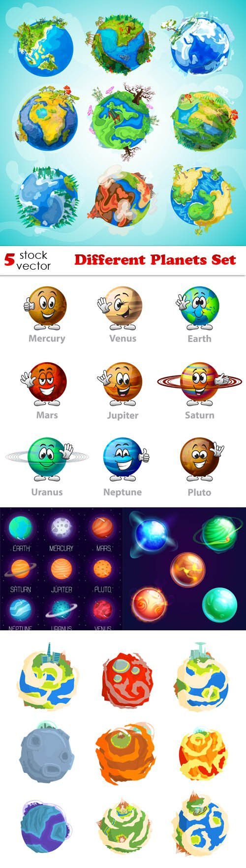 Vectors - Different Planets Set