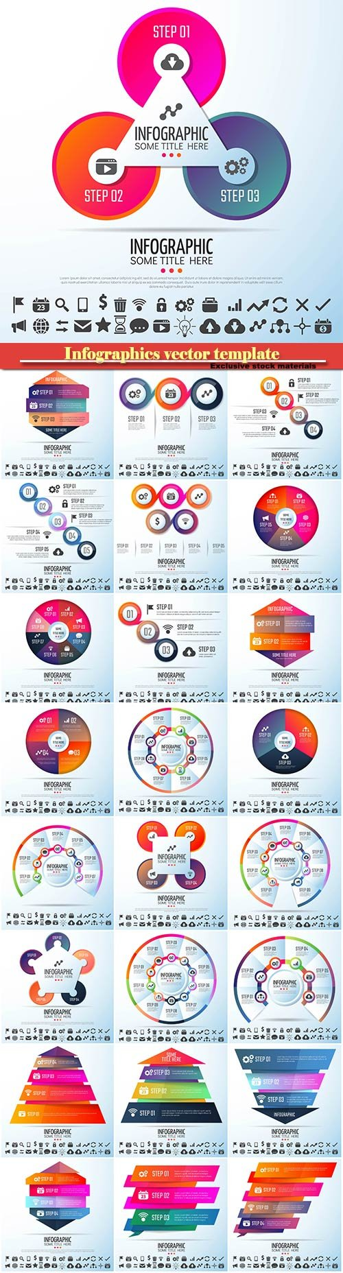 Infographics vector template for business presentations or information banner # 5