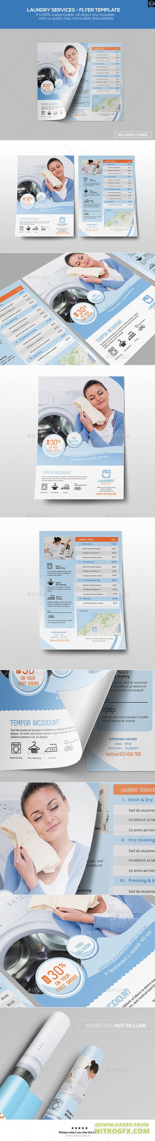 Laundry services flyer template 12597923 nitrogfx for Laundry flyers templates