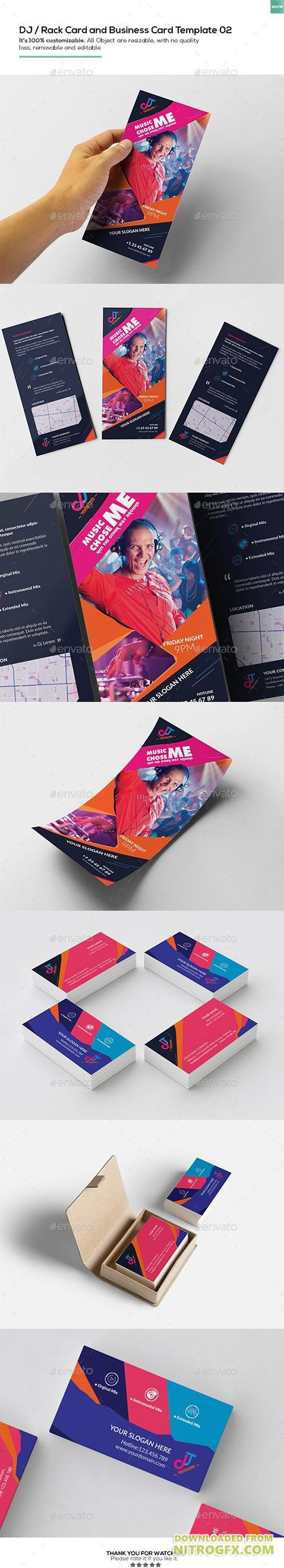 DJ / Rack Card and Business Card Template 02 16207260