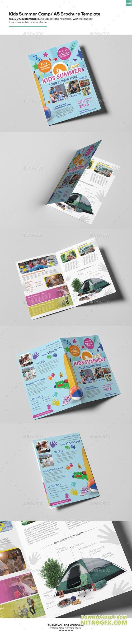 Kids summer camp a5 brochure template 15774830 nitrogfx for A5 brochure template
