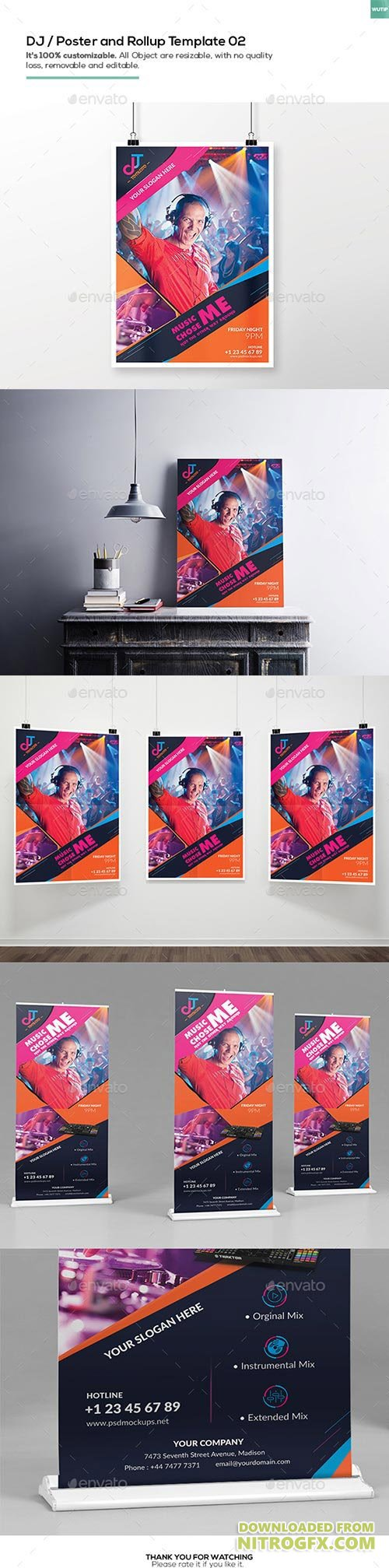DJ/ A3 Poster and Rollup Template 02 16207453