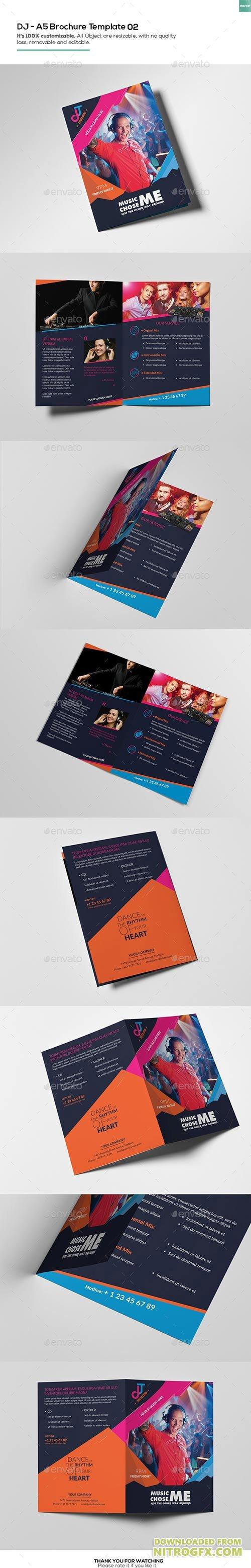 Dj a5 brochure template 02 16207061 nitrogfx download for A5 brochure template