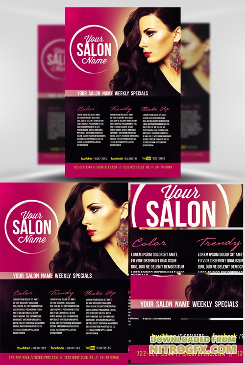 Flyer Template Professional Salon