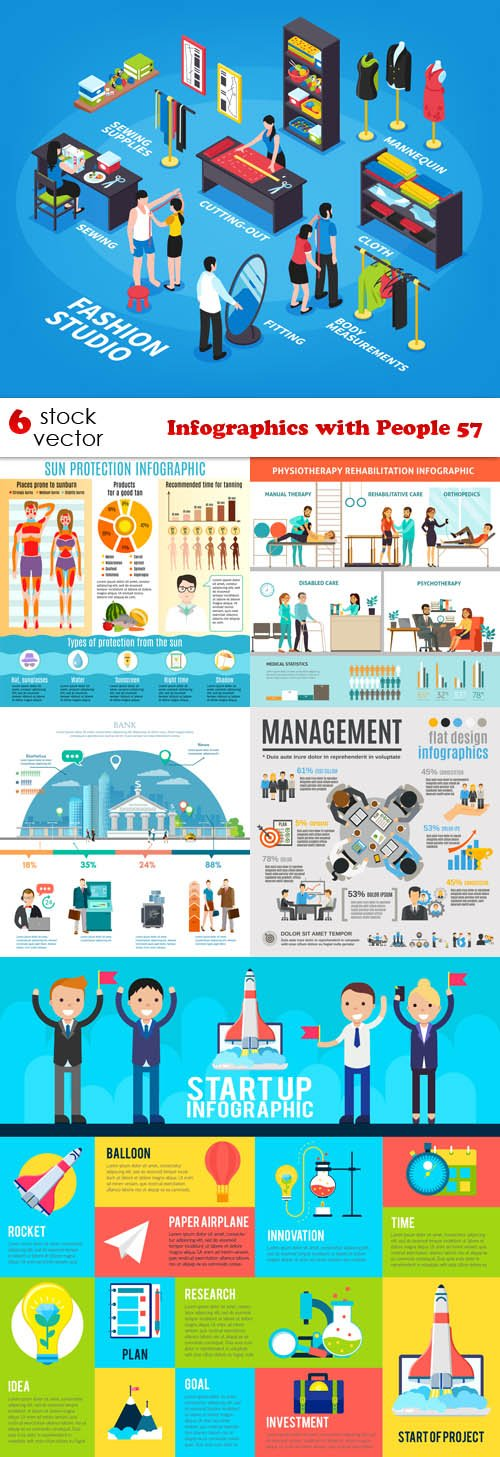 Vectors - Infographics with People 57