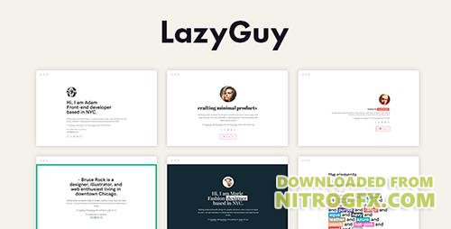 ThemeForest - LazyGuy v1.0 - Personal Landing Page Template for Everyone - 19779433