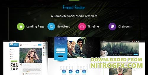 ThemeForest - Friend Finder v1.3 - A Social Network HTML5 Template - 18711273