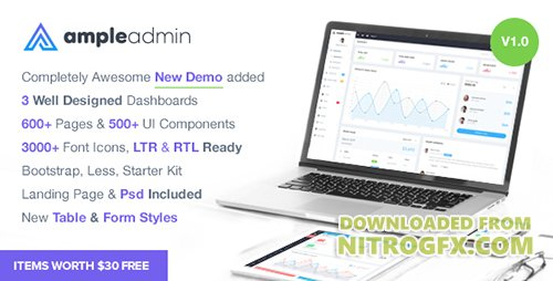 ThemeForest - Ample Admin v1.0 - Ultimate Dashboard Template - 19578653