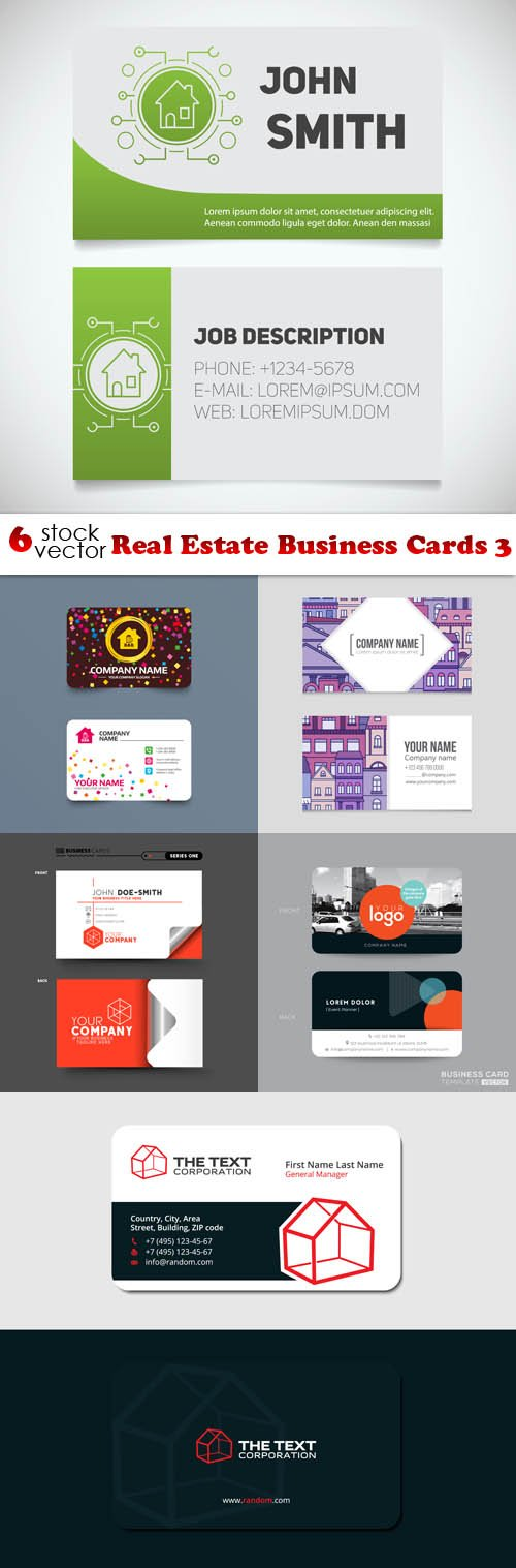Vectors - Real Estate Business Cards 3