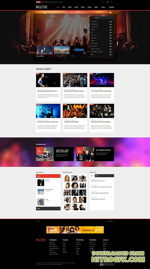 JoomlArt - JA Muzic v1.1.4 - Responsive Joomla template for Entertainment Music