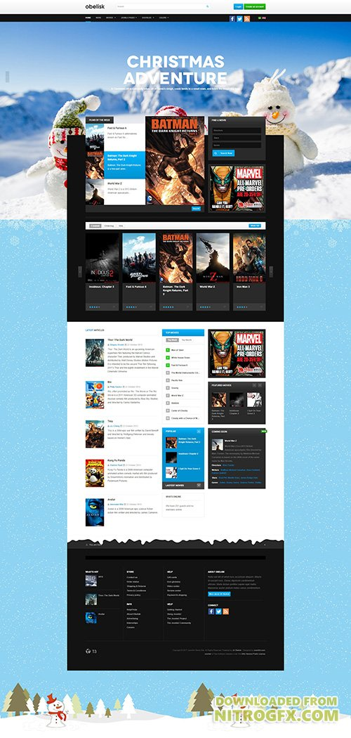 JoomlArt - JA Obelisk v1.1.3 - Responsive Joomla Template for Movie & Entertainment