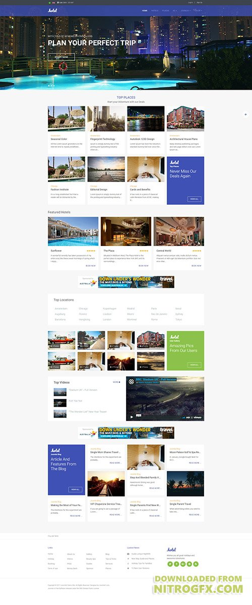 JoomlArt - JA Hotel v1.0.5 - Responsive Joomla Hotel and Travel template