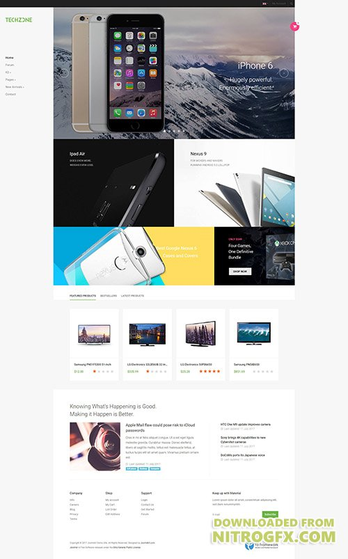 JoomlArt - JA Techzone v1.0.4 - Responsive Joomla 3 template for Tech Store