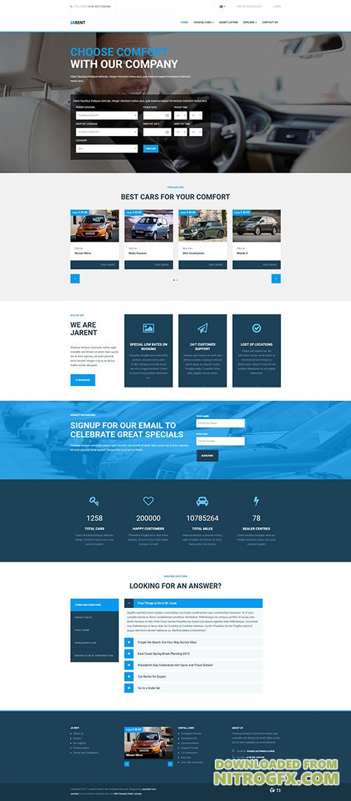JoomlArt - JA Rent v1.0.4 - Responsive Joomla template for Vehicles Rental Service