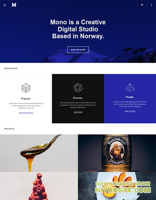 JoomlArt - JA Mono v1.0.5 - Responsive Joomla template for Creative Business