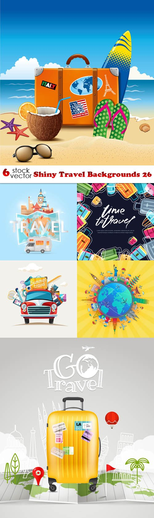 Vectors - Shiny Travel Backgrounds 26