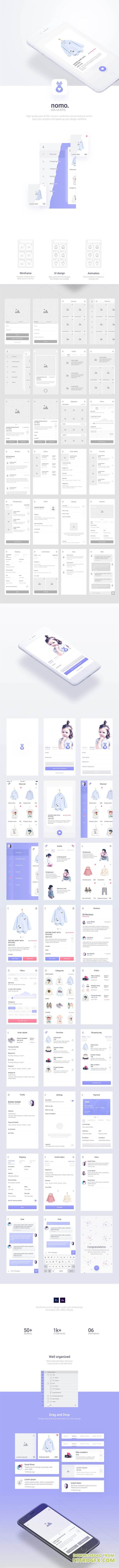 Nomo Mobile UI Kit