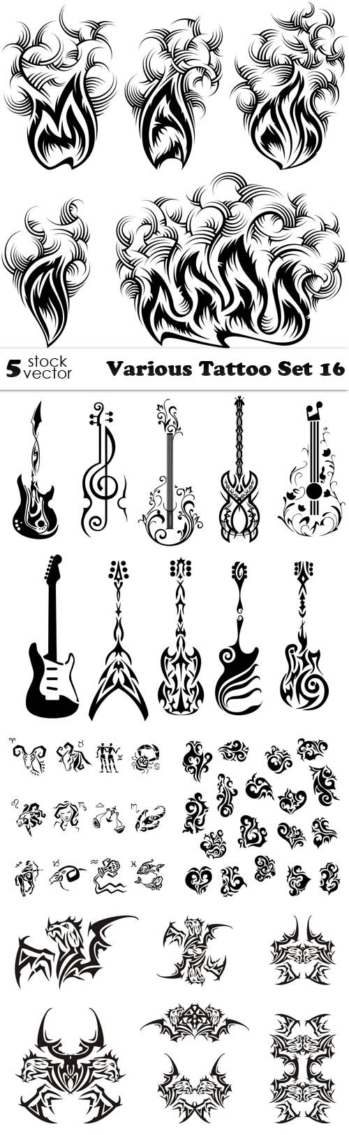 Vectors - Various Tattoo Set 16