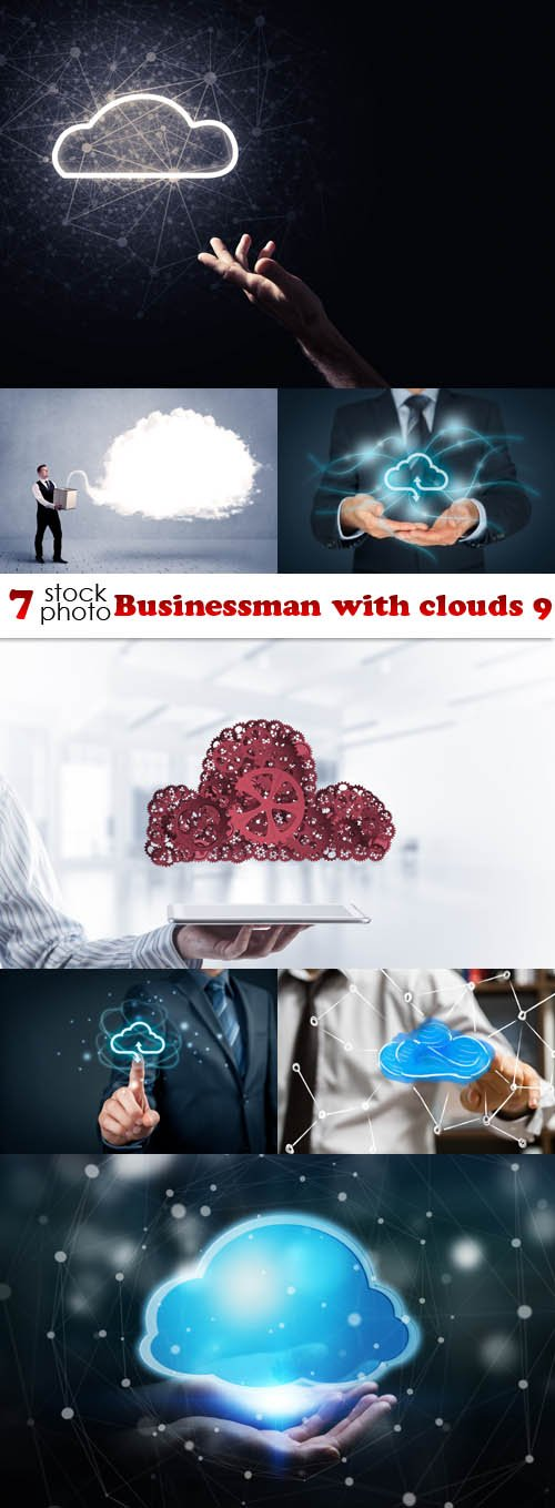 Photos - Businessman with clouds 9