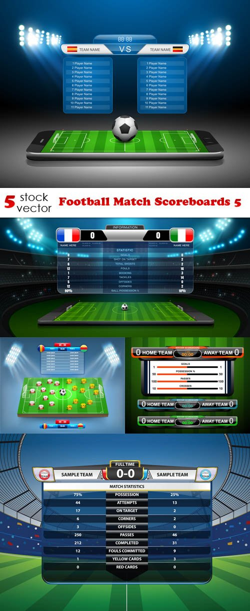 Vectors - Football Match Scoreboards 5