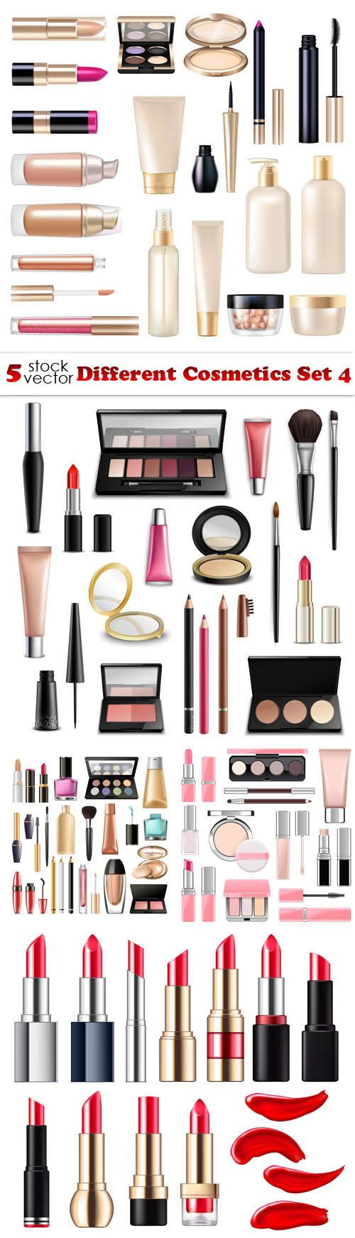 Vectors - Different Cosmetics Set 4