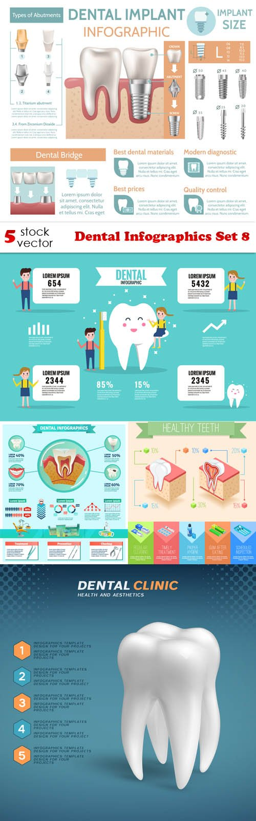 Vectors - Dental Infographics Set 8